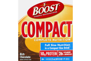 Boost Complete Nutritional Drink Compact Complete Nutrition Rich Chocolate - 4 CT