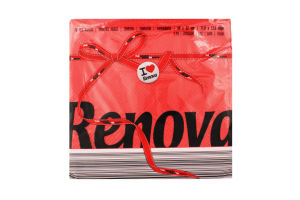 Салфетки Renova Red Label красные 32*30