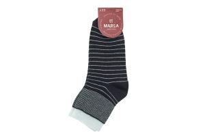 Шкарпетки жіночі Marca №42104 23-25 смужка синій