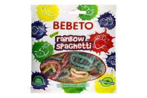 Мармелад жувальний Spagetti Rainbow Bebeto м/у 80г