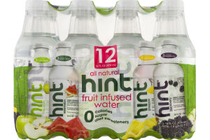Hint All Natural Fruit Infused Water Variety Pack - 12 CT