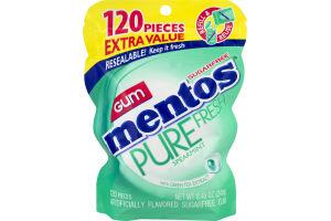 Mentos Sugar Free Gum Pure Fresh Spearmint - 120 CT