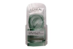 LOR_DERM_EXP маска 6 мл очищуюча з натурал. глиною та евкал., що матує шкіру Магія Глини