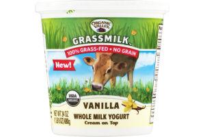 Organic Valley Grassmilk Whole Milk Yogurt Vanilla