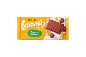 Шоколад молочный с дроблеными лесными орехами Lacmi Roshen м/у 90г