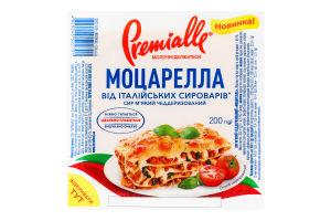 Сир 45% м'який чеддеризований Моцарелла Premialle в/у 200г
