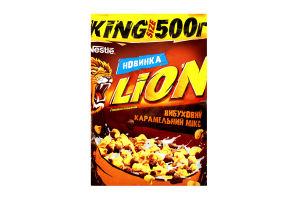 Завтраки сухие карамель и шоколад Lion м/у 500г