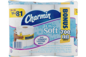 Charmin Ultra Soft Bathroom Tissue - 18 CT