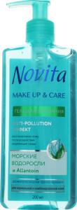 Гель для вмивання Make Up&Care Novita 200мл