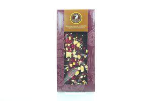 Шоколад Shoud'e чорний з цукатами та малиною 100г