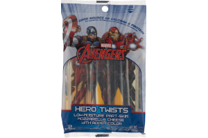 Marvel Avengers Hero Twists Mozzarella Cheese with Added Color - 12 CT