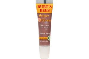 Burt's Bees Super Glossy Pucker Berry Natural Lip Gloss