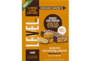 Level Life Protein Snack Bar Caramel Chocolatey Peanut - 4 CT
