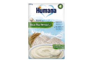 Каша молочна рисова суха для дітей від 6міс Humana к/у 200г