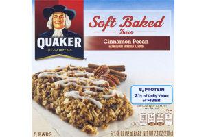 Quaker Soft Baked Bars Cinnamon Pecan - 5 CT