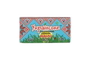 Масло 73% солодковершкове Селянське Українське м/у 400г