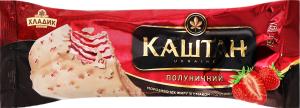 Морозиво 12% полуничне Каштан Хладик м/у 75г