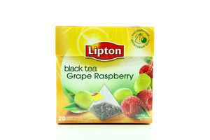Чай Grape Raspberry с виноградом и малиной Lipton 36г