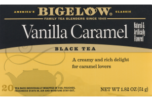 Bigelow Vanilla Caramel Black Tea - 20 CT