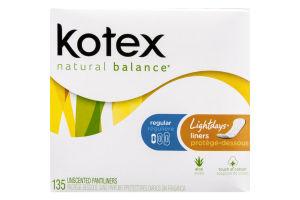 Kotex Natural Balance Pantiliners Regular Unscented - 135 CT