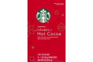 Starbucks Classic Hot Cocoa Mix Envelopes - 8 Ct
