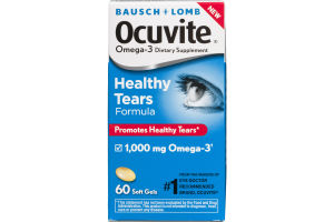 Bausch + Lomb Ocuvite Healthy Tears Formula Omega-3 Dietary Supplement Soft Gels - 60 CT