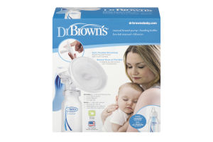 Dr Brown's Manual Breast Pump + Feeding Bottle