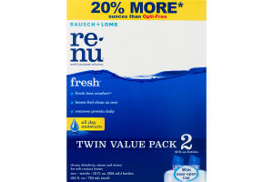 ReNu Clean, Disinfects, Rinses and Stores Soft Contact Lenses - 2 PK