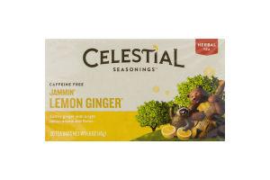 Celestial Seasonings Caffeine Free Jammin' Lemon Ginger Tea Bags - 20 CT