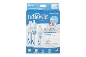 Dr Brown's Starter Kit Bottles, Nipples, Cleaning Brushes