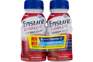 Ensure Complete Nutrition Shake Strawberry - 4 CT