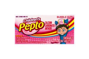 Children's Pepto Antacid Chewable Tablets Bubble Gum - 24 CT