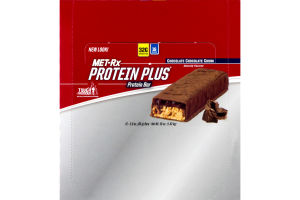 MET-Rx Protein Plus Protein Bar Chocolate Chocolate Chunk - 12 CT