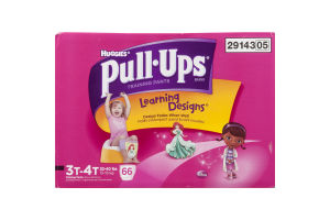 Huggies Pull-Ups Training Pants Learning Designs Disney 3T-4T - 66 CT