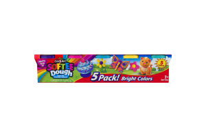 Cra-Z-Art Softee Dough Super Soft Modeling Compound Bright Colors - 5 CT