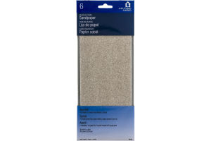 Helping Hand Aluminum Oxide Sandpaper - 6 CT