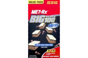 MET-Rx BIG100 Minis Protein Snack Bar Super Cookie Crunch - 8 CT