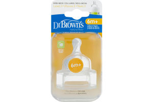 Dr Brown's Silicone Wide-Neck Nipples - 2 PK