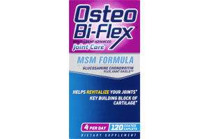 Osteo Bi-Flex Joint Care MSM Formula Coated Caplets - 120 CT