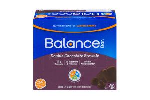 Balance Bar Double Chocolate Brownie - 6 CT
