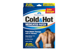 Personal Care Cold&Hot Medicated Patch Extra Strength Large - 2 CT