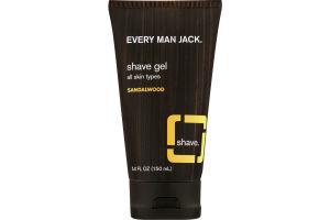 Every Man Jack Shave Gel All Skin Types Sandalwood