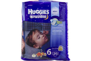 Huggies Over Nites Diapers Over 35 lb - 20 CT