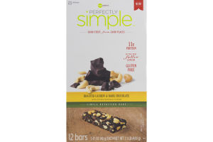 Perfectly Simple Nutrition Bars Roasted Cashew & Dark Chocolate - 12 CT