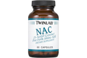 Twinlab NAC Dietary Supplement Capsules - 60 CT