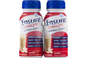 Ensure Complete Nutrition Shake Vanilla - 4 CT