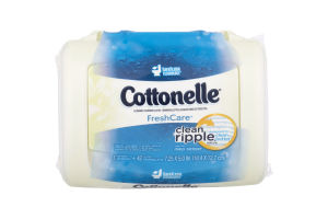 Cottonelle FreshCare Flushable Cleansing Cloths Clean Ripple - 42 CT