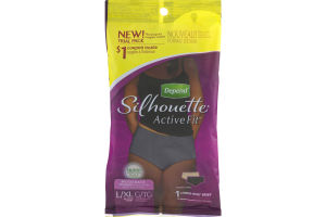 Depend Silhouette Active Fit Moderate Absorbency Lower-Rise Brief L/XL - 1 CT