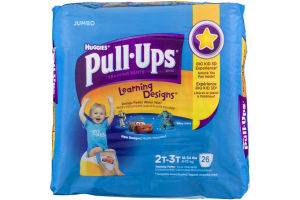 Huggies Pull-Ups Disney Learning Designs Training Pants Size 2T-3T - 26 CT