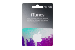 iTunes Gift Card $15-$500